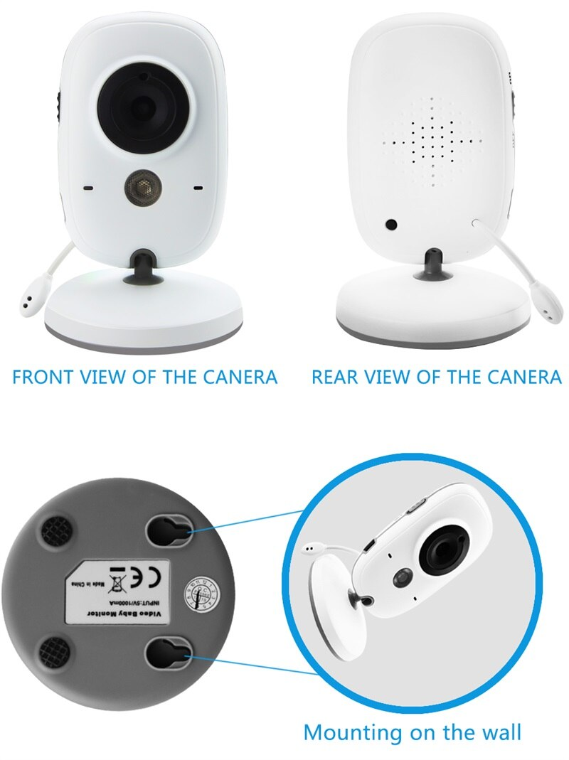 Wireless Video Color Baby Monitor with 2 Way Audio Talk