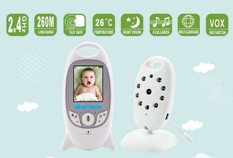 Portable Infrared White Baby Monitor