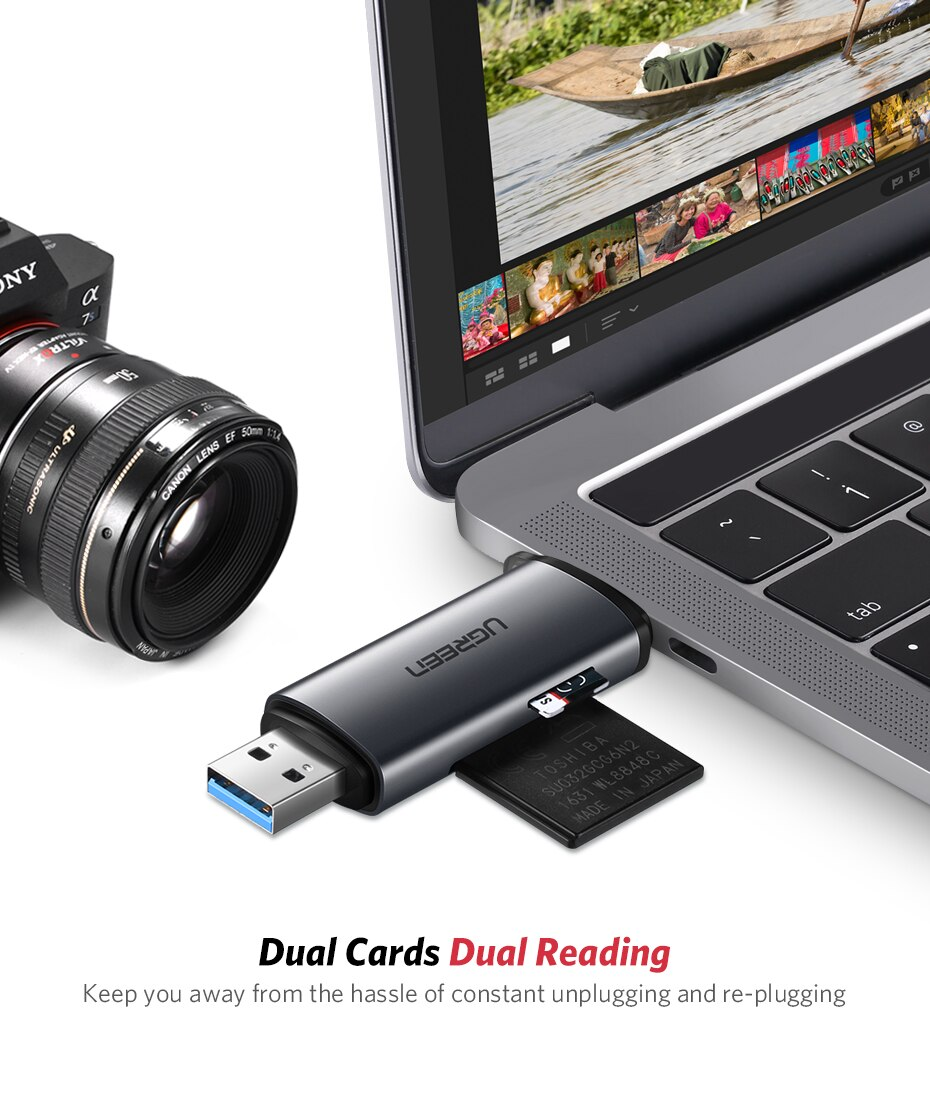 USB 3.0 SD and Micro Smart Card Reader