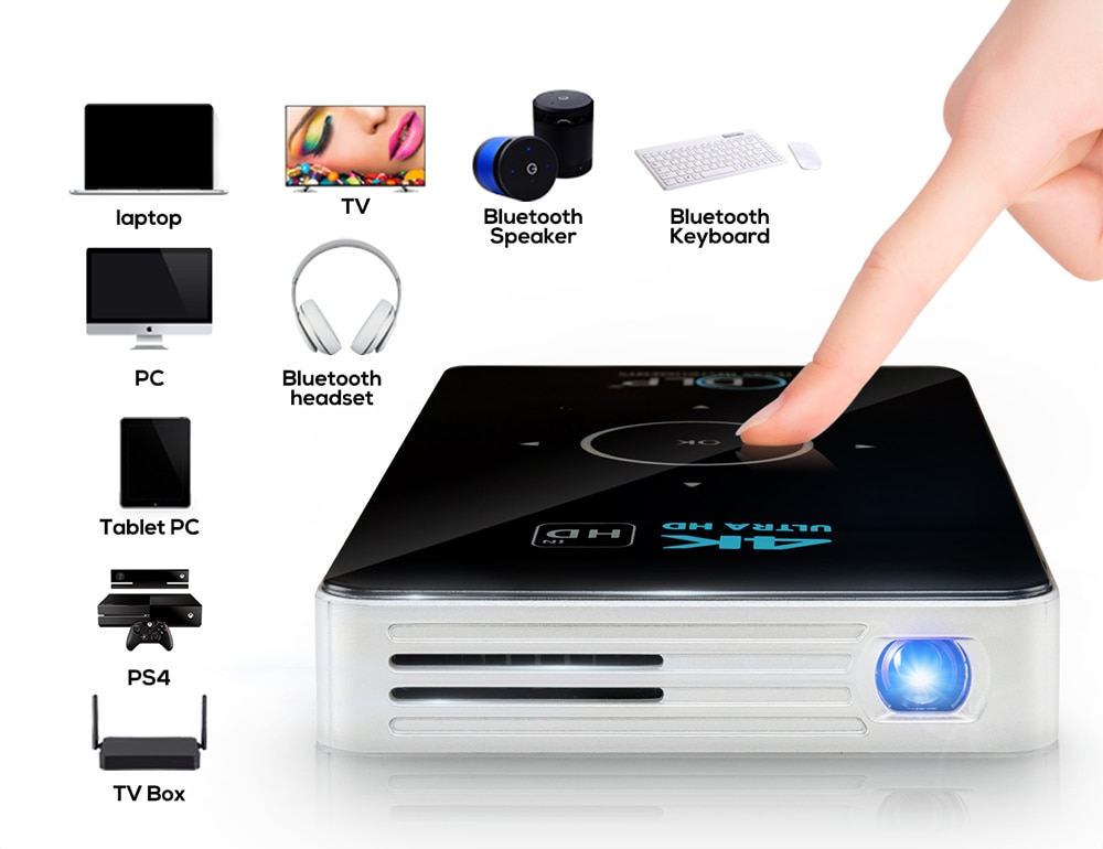 Mini WiFi 4K Portable Projectors