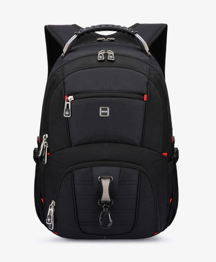 Men's Multifunctional Waterproof Backpack with USB Support
