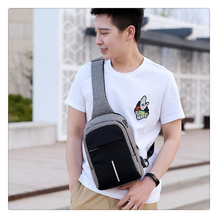 Small USB Charging One Shoulder Bags