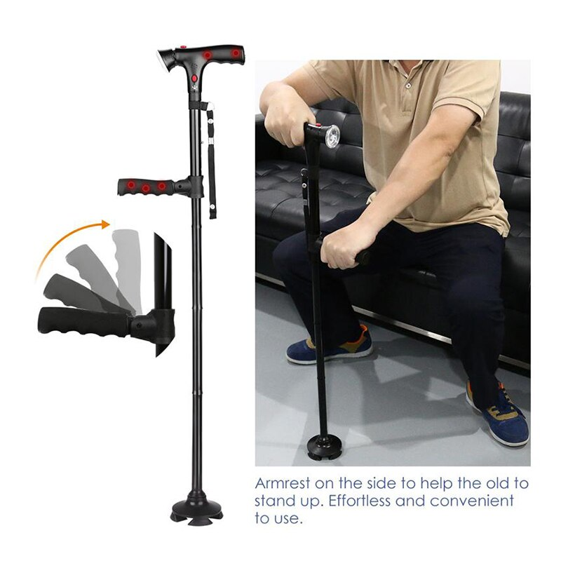 Collapsible Telescopic Cane with LED