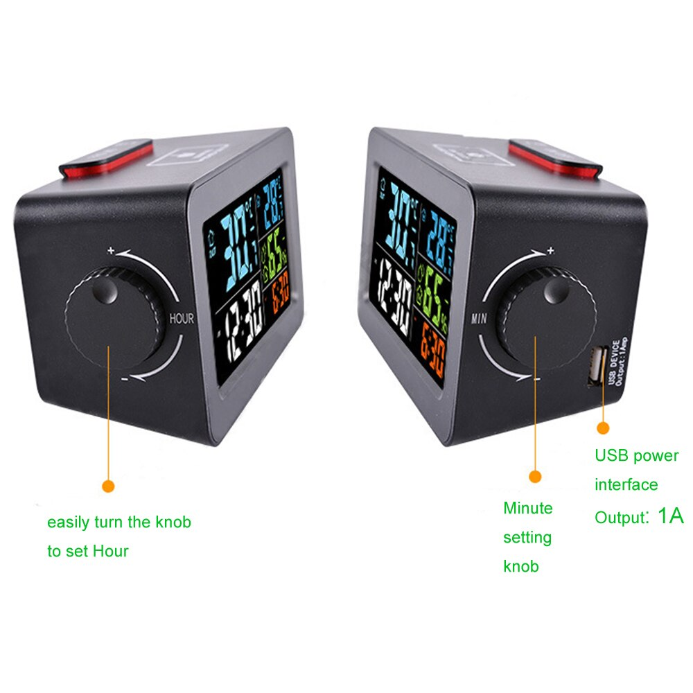 Digital Alarm Clock with Thermometer