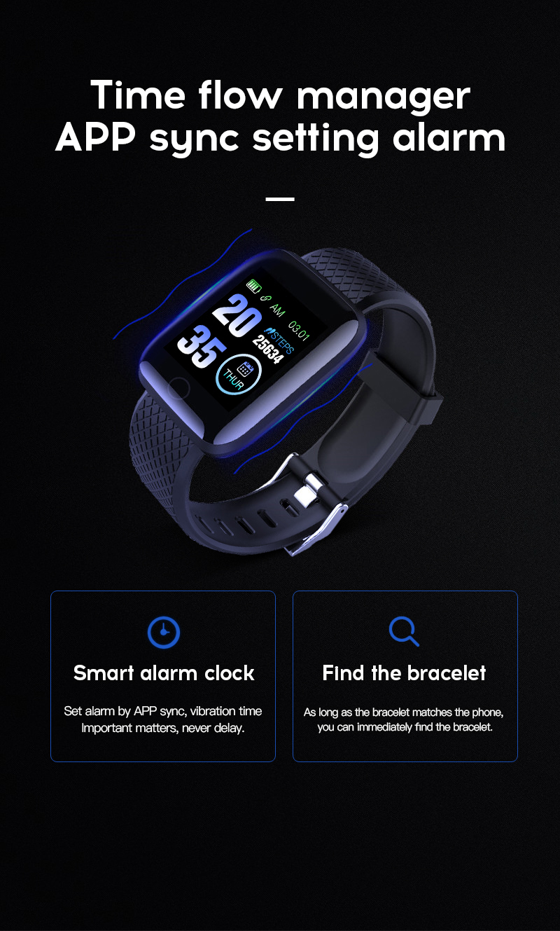 Waterproof Colorful Silicone Smart Watch
