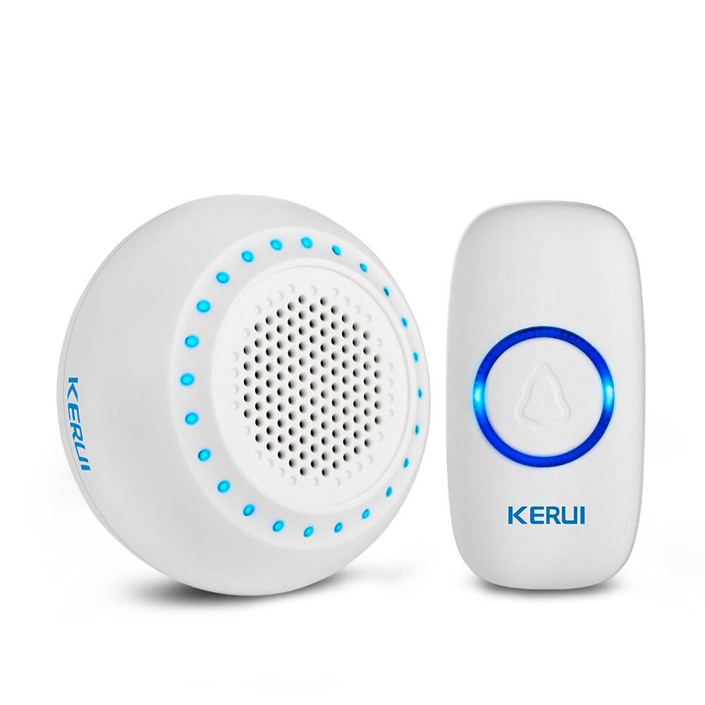White 1 Receiver with 1 Doorbell
