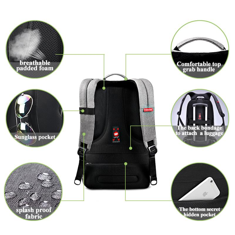 Anti-Theft USB Travel Backpack