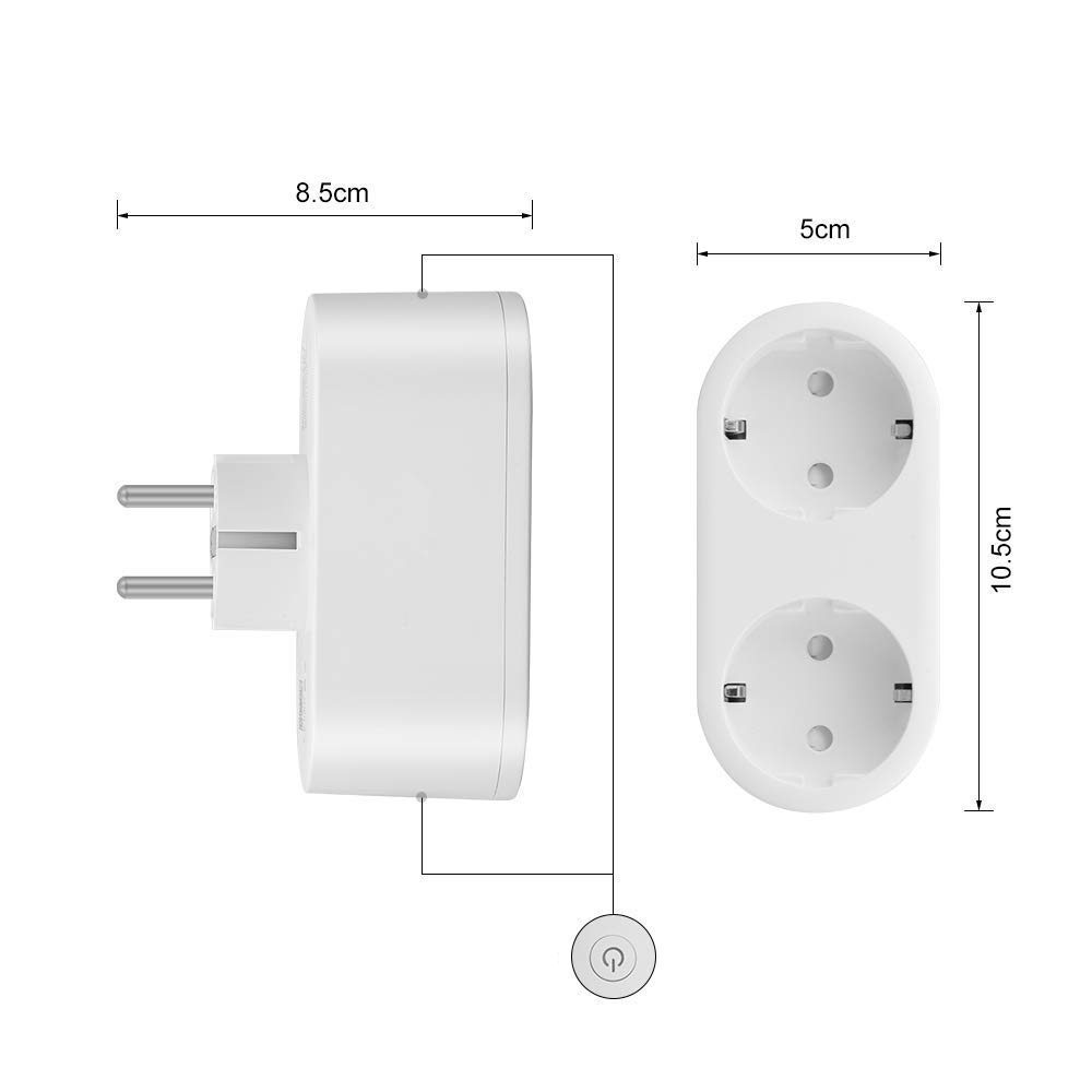 Double WiFi Smart Plug witht Power Monitor