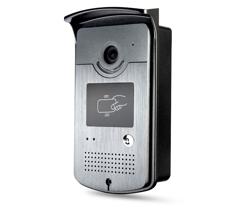 Wired Video Doorbell with CMOS Night Vision and Card Reader