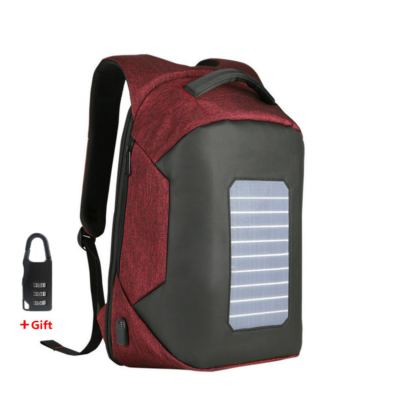 Unisex Stylish Solar Laptop Backpack